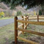 3-rail lodge pole fence in Spanish Fork Canyon, Utah