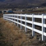 3-rail ranch rail horse arena fence in Park City, Utah