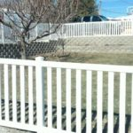 Closed picket style vinyl fence in Cedar Hills, Utah