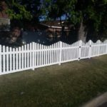Scalloped picket fence in American Fork, utah