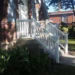 Vinyl porch and stair railing in Bountiful, Utah